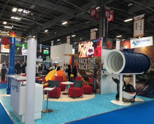 AQUARENA Messestand auf der IAAPA Expo Europe, Paris 2019