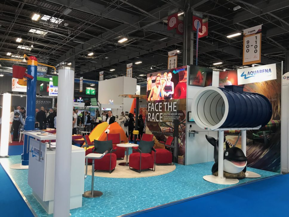 AQUARENA Messestand auf der IAAPA Expo Europe, Paris 2019